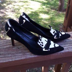 Rachel Zoe Carrie black and white heels